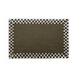 Courtly Check Rug, L91.44 x W60.96cm, black & white, brown