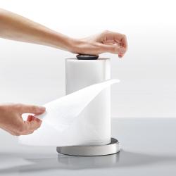 Push&Tear Kitchen roll holder, 28 x 16 x 16cm, Grey