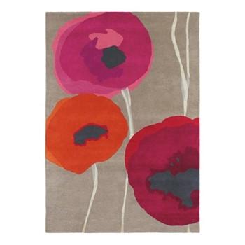Poppies Rug, 170 x 240cm, red/orange