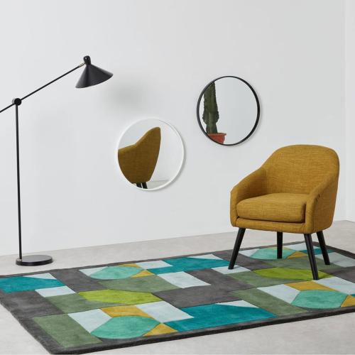 MADE Essentials - Bex Round lacquered mirror, H55cm, Black