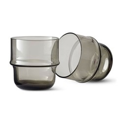 Unda Pair of tumblers, grey