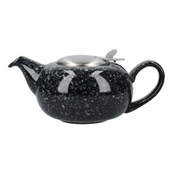 Pebble 2 cup teapot, H7 x D12cm, flecked black