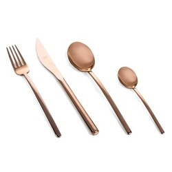 Due 24 piece cutlery set, copper