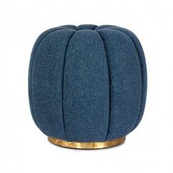 Sofia Footstool, H50 x D47cm, blue linen