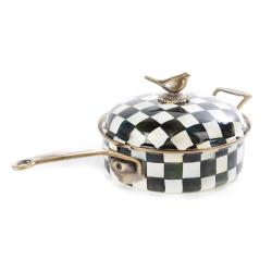 Courtly Check Saute pan, 26cm, enamel