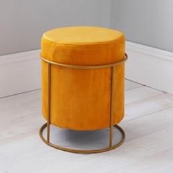 Stack stool, L37 x W37 x D45cm, mustard