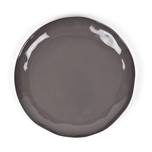 Huge serving platter, D37 x H3cm, Charcoal