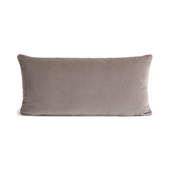 Monroe Oblong cushion, velvet/silver