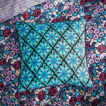 Twilight Garden Cushion, L40 x W40 x H10cm, jade