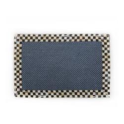 Courtly Check Rug, L91.44 x W60.96cm, black & white, blue