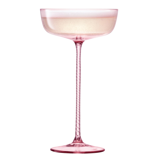 Champagne Theatre Pair of champagne saucers, 190ml, dawn pink