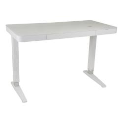 Lana Smart charging standing desk, H74 /120 x W120 x D60cm, White