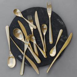 Paloma 24 piece cutlery set, matt gold