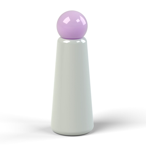 Skittle Water bottle, 500ml, Light Grey/Lilac