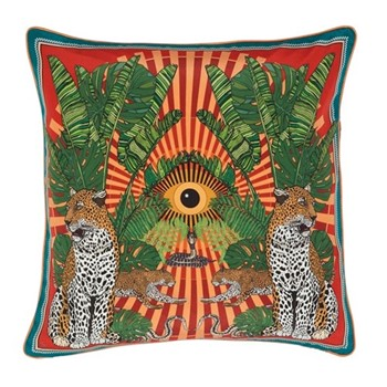 Eye of the Leopard Cushion, L45 x W45cm, orange