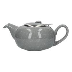 Pebble 2 cup teapot, H7 x D12cm, gloss grey