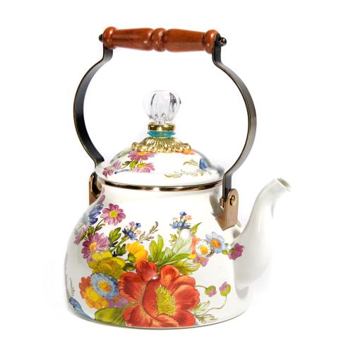 Flower Market Tea kettle, 2.3L, White