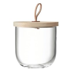 Ivalo Storage container with ash lid, H15.5cm, clear