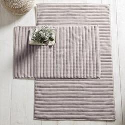 Rib Hydro Cotton Medium bath mat, 50 x 80cm, smoke