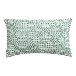 Talin Cushion cover, 30 x 50cm, green/grey