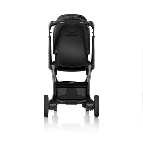 J-carbon Stroller with clear wheels, Carbon fibre, H112 x W58 x L76cm