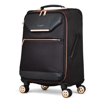 Albany Small 4 wheel trolley suitcase, L55 x W36 x D25cm, black
