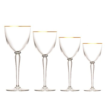 Apollo Continental water goblet No.2, gold rim