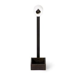 Mezza Freestanding loo roll holder, H60 x W20 x D15cm, Dark Brown