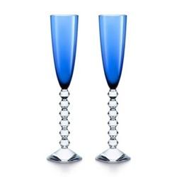 Vega Pair of flutissimo flutes, H29cm - 17cl, blue