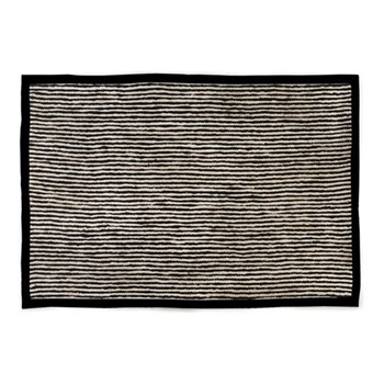 Braided Stripe Rug, W182.88 x L274.32cm, black & white
