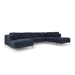 Monterosso Right hand facing corner sofa, H80 x W351 x D230cm, storm blue