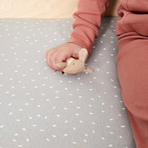 Rice - Organic Cot & Cot Bed Fitted sheet, W60 x L120cm, Dove