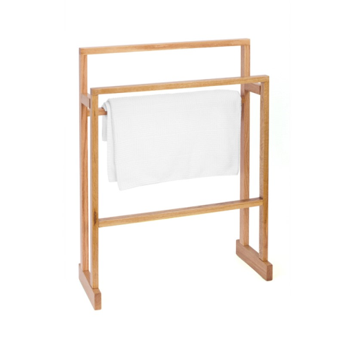 Mezza Towel rail, H74 x W55 x D23cm, Oak