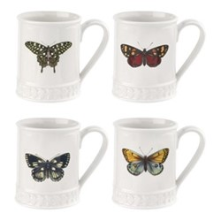 Botanic Garden Harmony Set of 4 tankard mugs, white