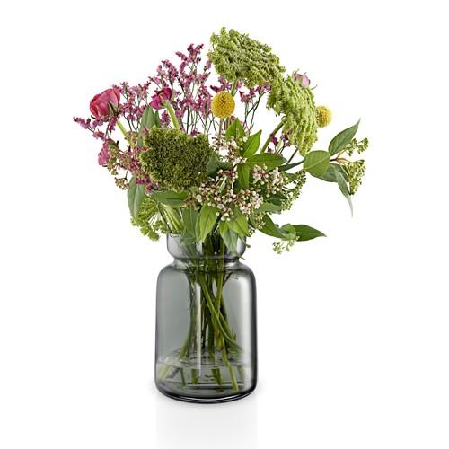 Silhouette Vase, H18.5 x Dia12cm, Smoke Glass