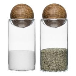 Nature Salt & pepper set, Dia4.8 x H11.5cm, oak