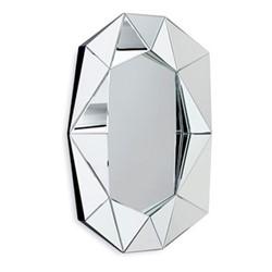 Diamond Large wall mirror, L72 x H100 x D6.2cm, silver