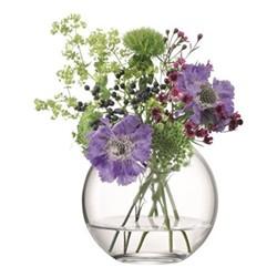 Globe Vase, W12 x H11cm, clear
