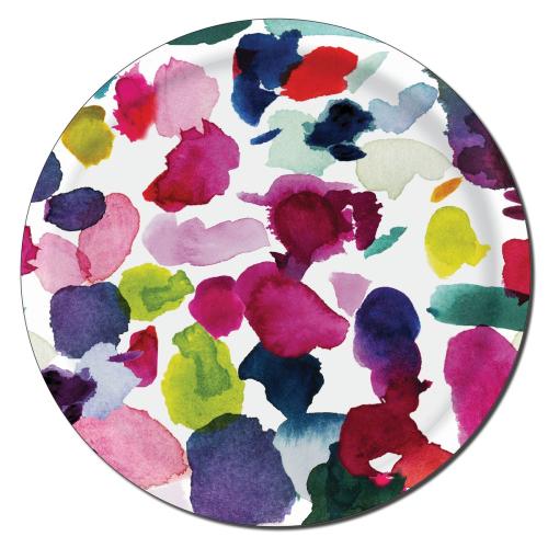 Abstract Circular tray