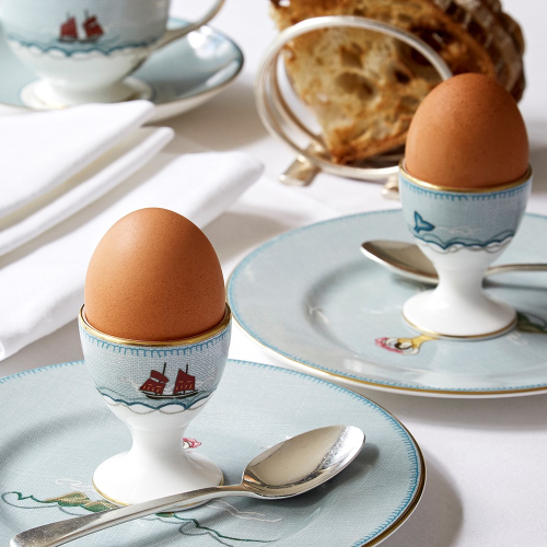 Sailors Farewell Footed egg cup, H6.3cm