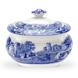 Blue Italian Covered sugar bowl, 250ml