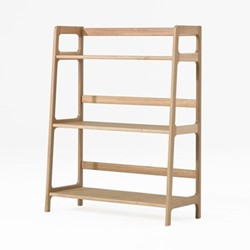 Agnes by Kay + Stemmer Medium shelving unit, W80 x D38 x H103cm, oak