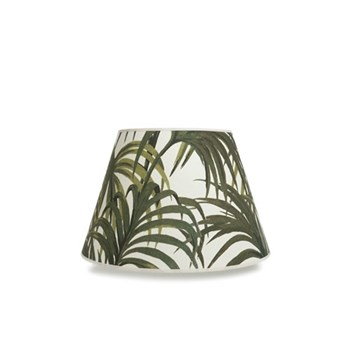 Palmeral Daley lampshade, W40 x D24 x H27cm, white/green