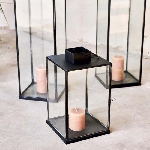 Sia Medium lantern, 58 x 20 x 20cm, Antique Black