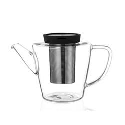 Infusion Teapot, 1 litre, black/clear