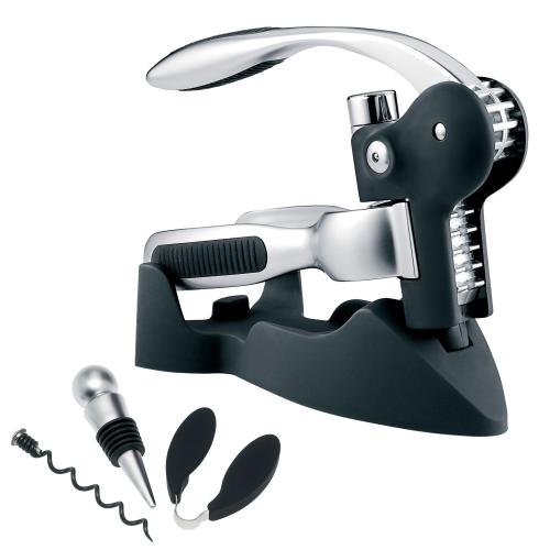Lever-arm corkscrew set