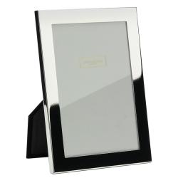 "Flat Border Photograph frame, 5 x 7"", Silver Plate With Velvet Back"