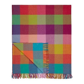 Circus Lambswool throw, L183 x W142cm, circus