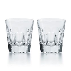 Harcourt - 1841 Pair of old fashioned tumblers, H10.9cm - 46cl, clear