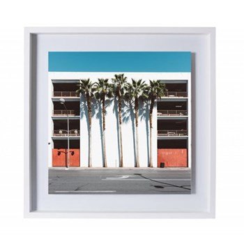 Las Vegas Palms by Kate Ballis Framed photographic print, 27.3 x 27.3cm, white